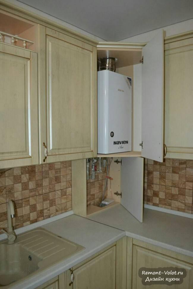 Что нужно учесть, определяясь с дизайном маленькой кухни с газовой колонкой