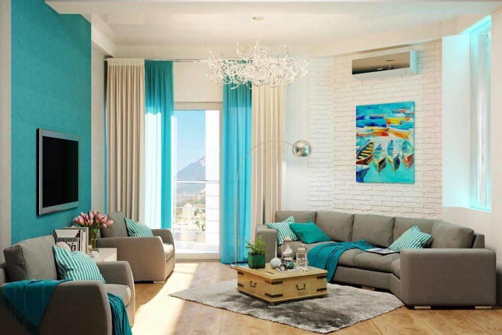 Варианты дизайна обоев в интерьере гостиной комнаты