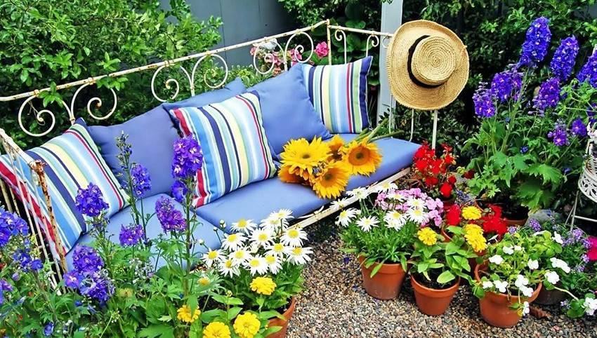 Украшения для сада: дизайнерские хитрости и варианты оформления (100 фото)