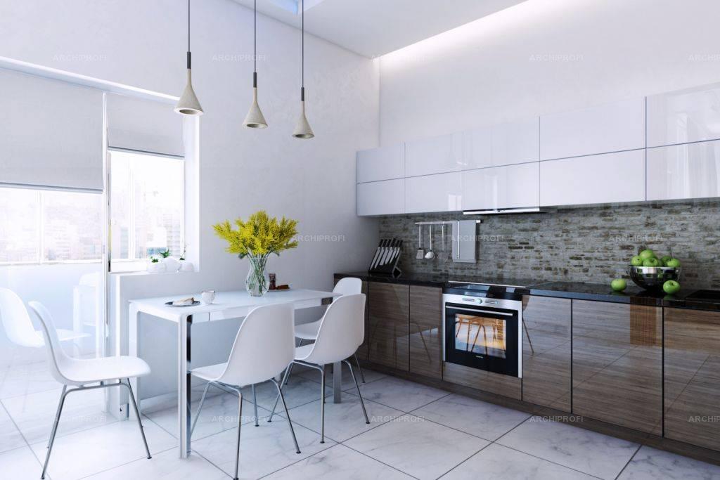Черно-белая кухня - 100 фото лучших новинок дизайна. современные тенденции при оформлении черно-белого интерьера кухниа
