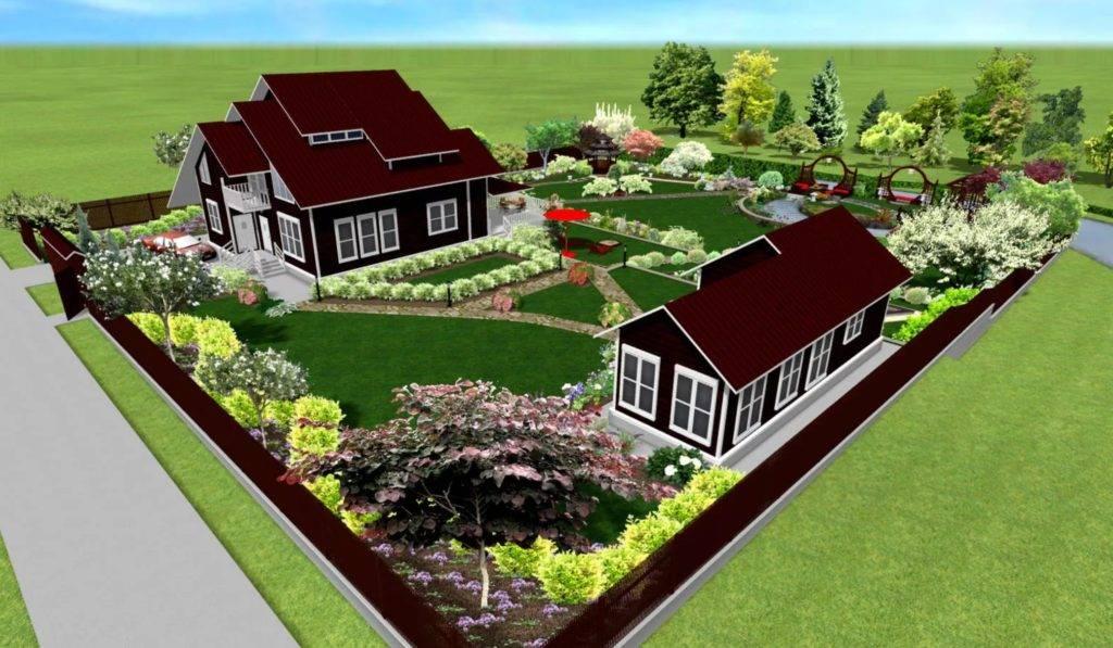 Ландшафтный дизайн 15 соток (63 фото): схема планировки участка с домом, гаражом и баней, проекты и варианты оформления