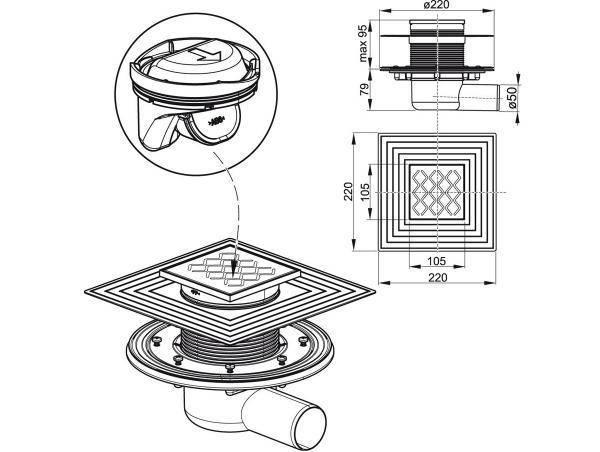 Трап для душа в полу под плитку с гидрозатвором – монтаж с учётом особенностей