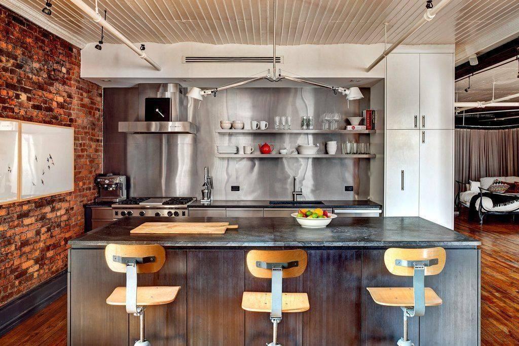 Кухня в стиле лофт маленькая