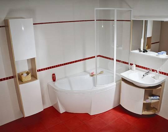 Угловые ванны в ванной комнате (79 фото): варианты дизайна интерьера с угловой ванной, красивые идеи