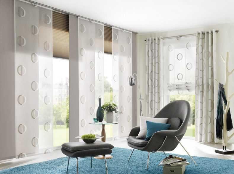 Двухцветные шторы в современном интерьере - 110 фото дизайна