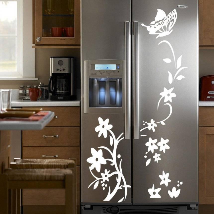 Декор холодильника – способы украшения крупной бытовой техники - 9 фото