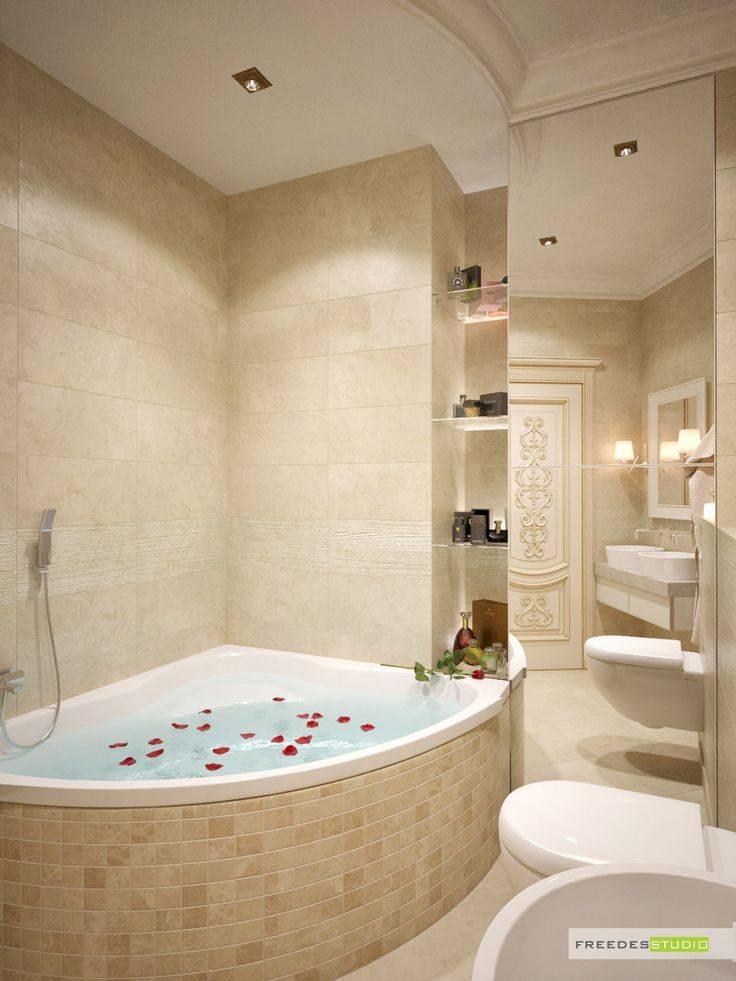 Угловые ванны в маленькой ванной (48 фото): размеры небольших угловых ванн, примеры в интерьере