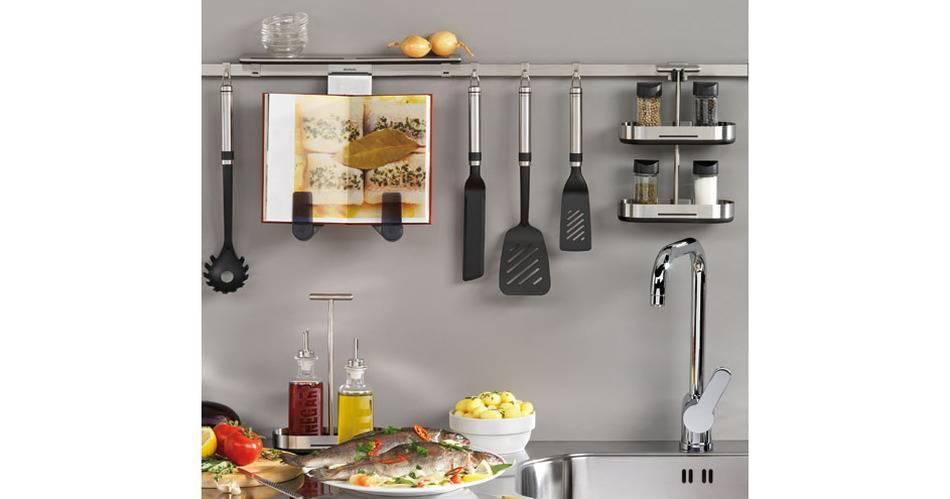 Рейлинговые системы в интерьере кухни: разновидности, правильное расположение, реальные фото