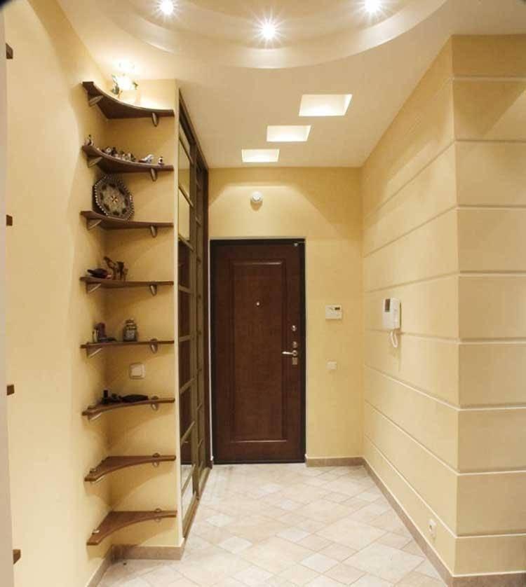 Потолок из гипсокартона в прихожей и коридоре - фото различных вариантов