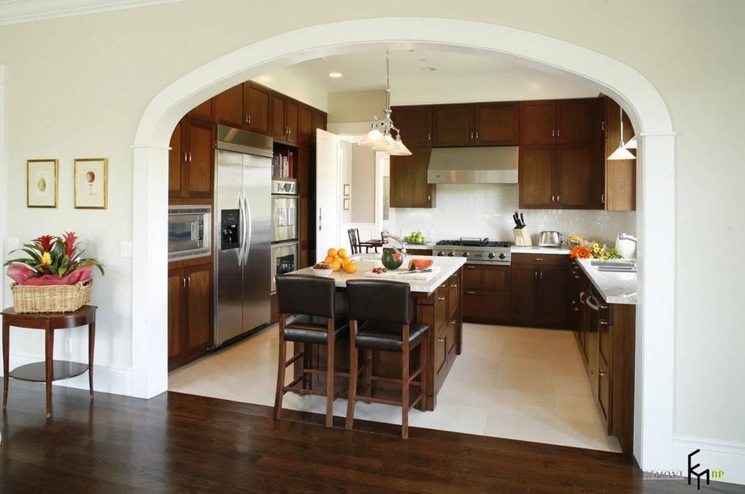 Арка на кухню вместо двери: реальные идеи и 50 фото