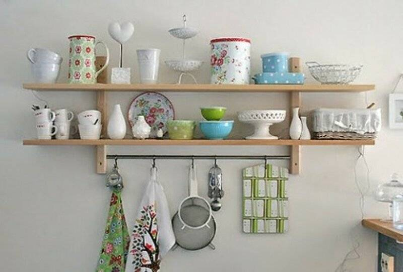 Как выбрать открытые полки для кухни?