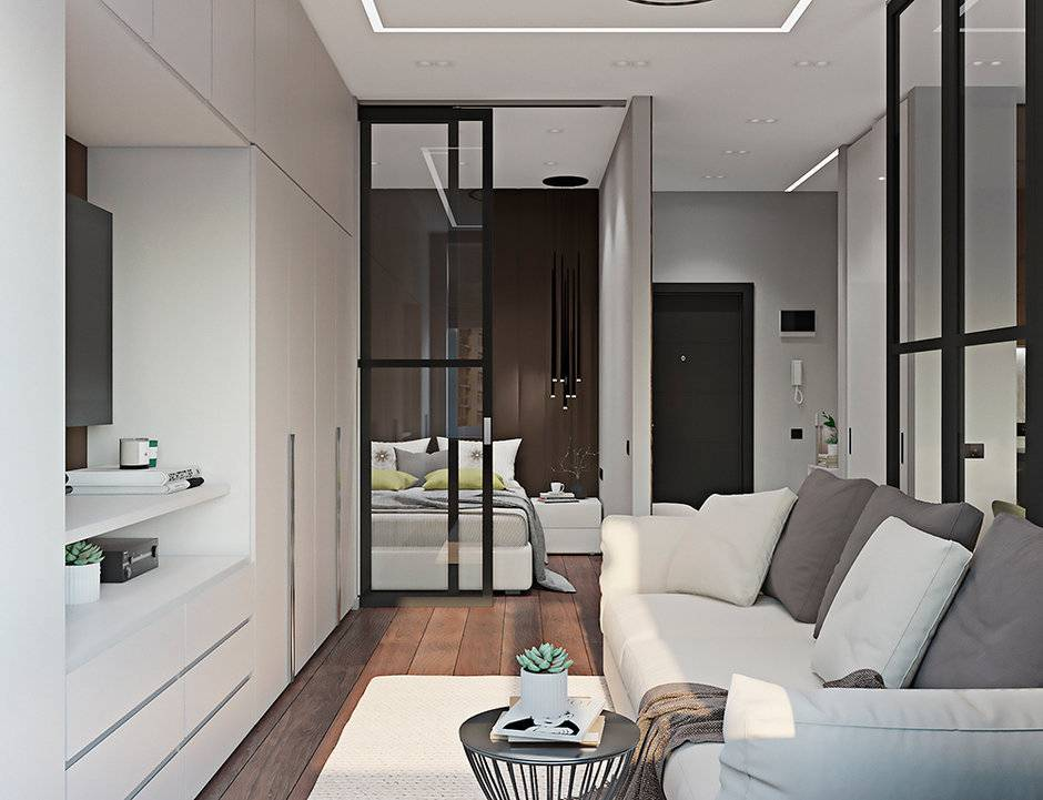Дизайн и ремонт однокомнатной квартиры площадью 40 кв. м