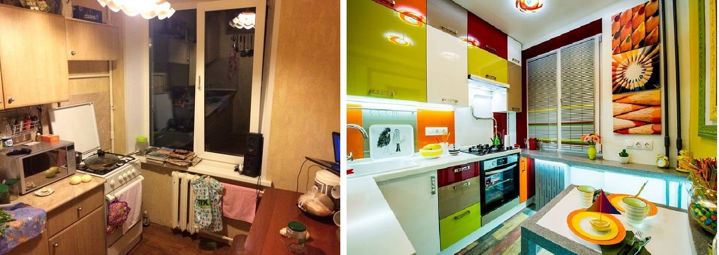 Дизайн кухни 6 кв. метров: 140+ реальных фото интерьеров